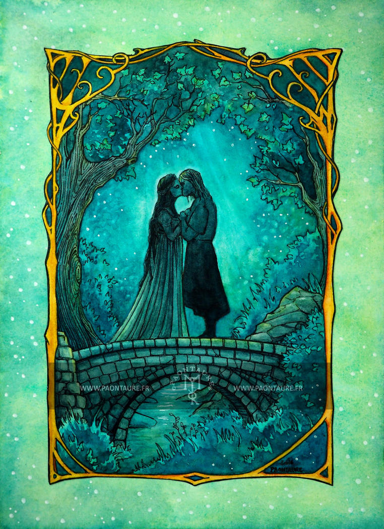 Arwen and Aragorn by May-Paontaure