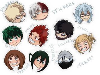 BNHA stickers