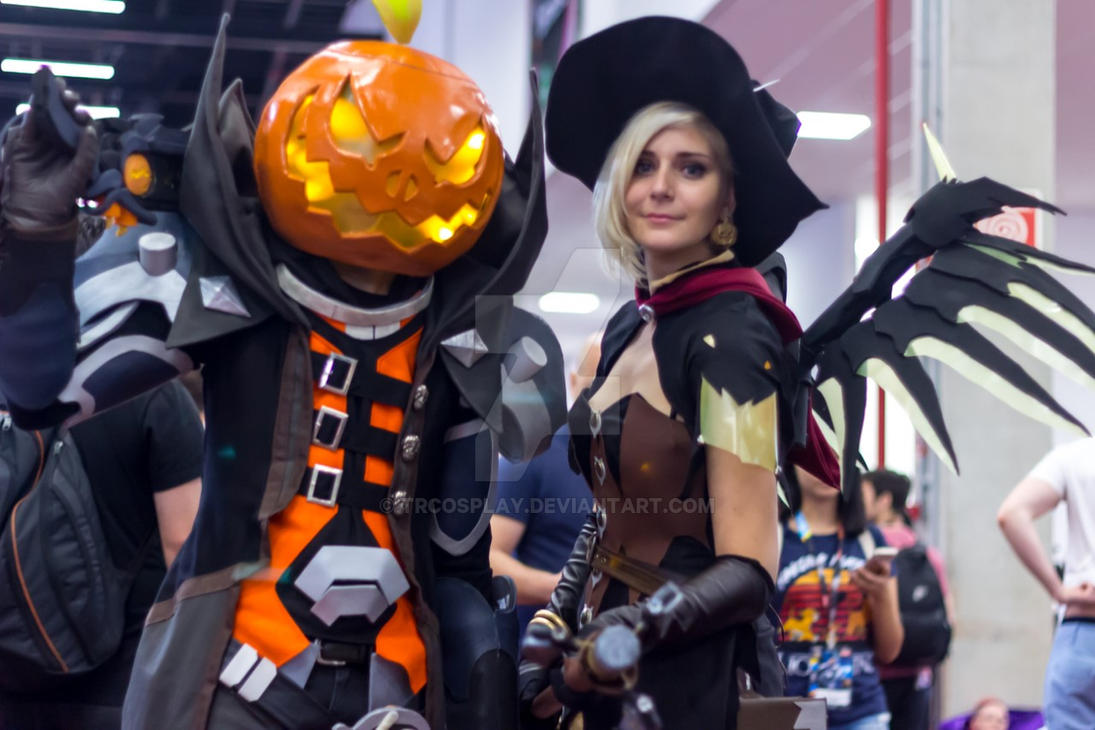 Witch Mercy and pumpkin Reaper by TRcosplay on DeviantArt
