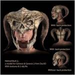 HelmetSkull-2 for Daz3d and Poser