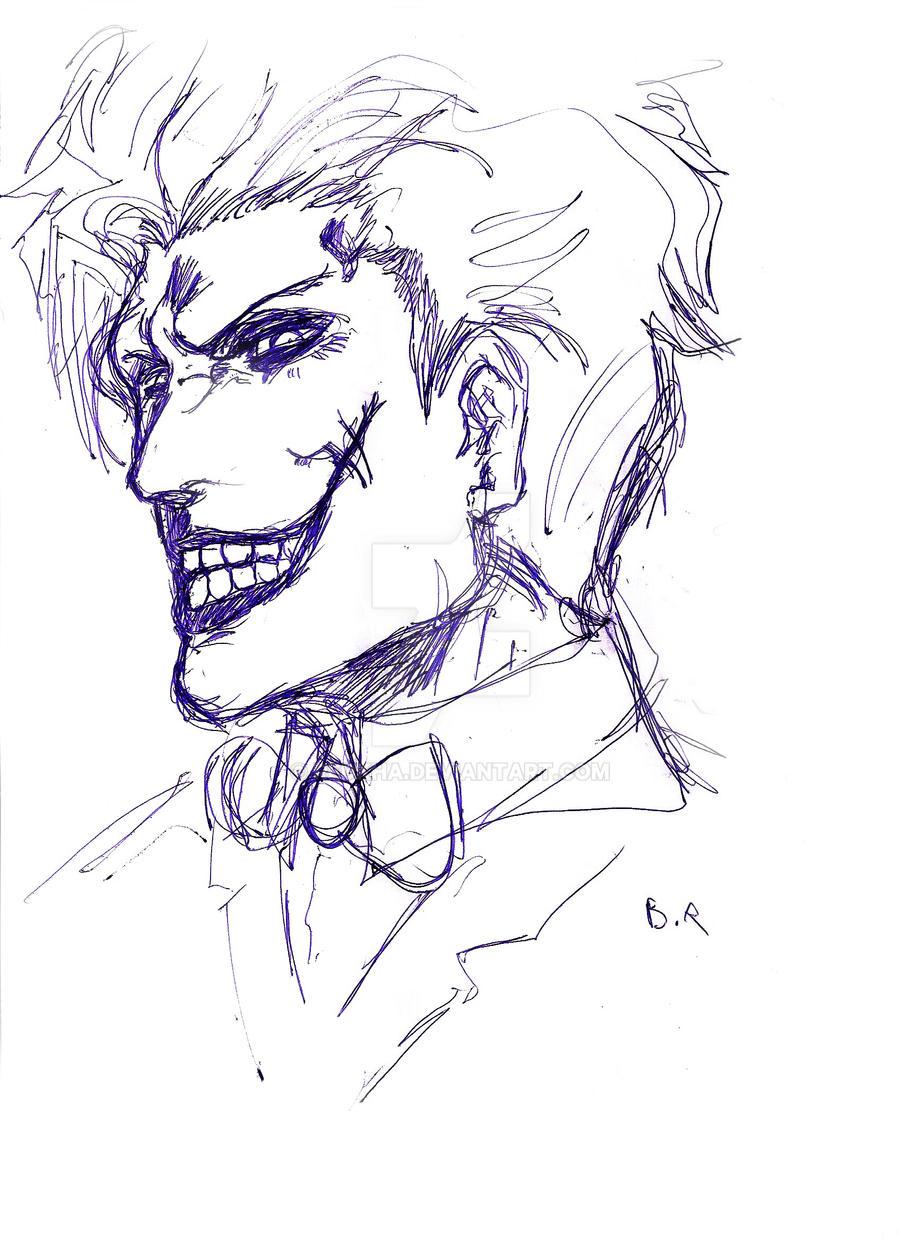 Joker Smile Sketch By Redkha On Deviantart