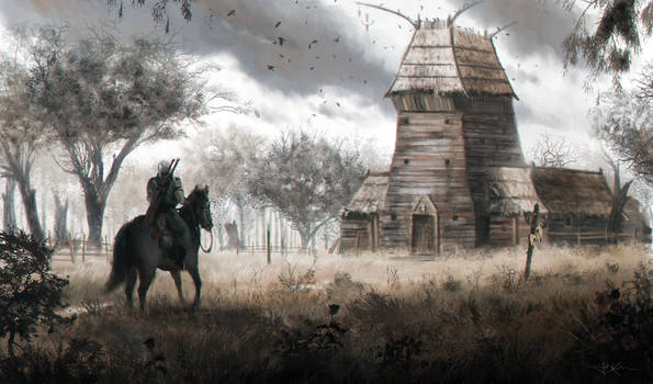 The Witcher fan art by Emkun