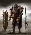Dark elf knight concept