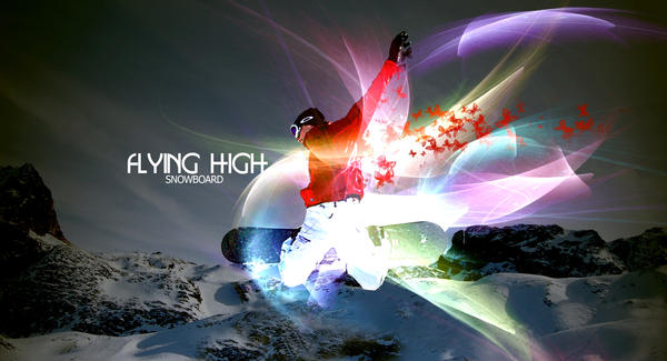 flying high snowboard by overminded-creation