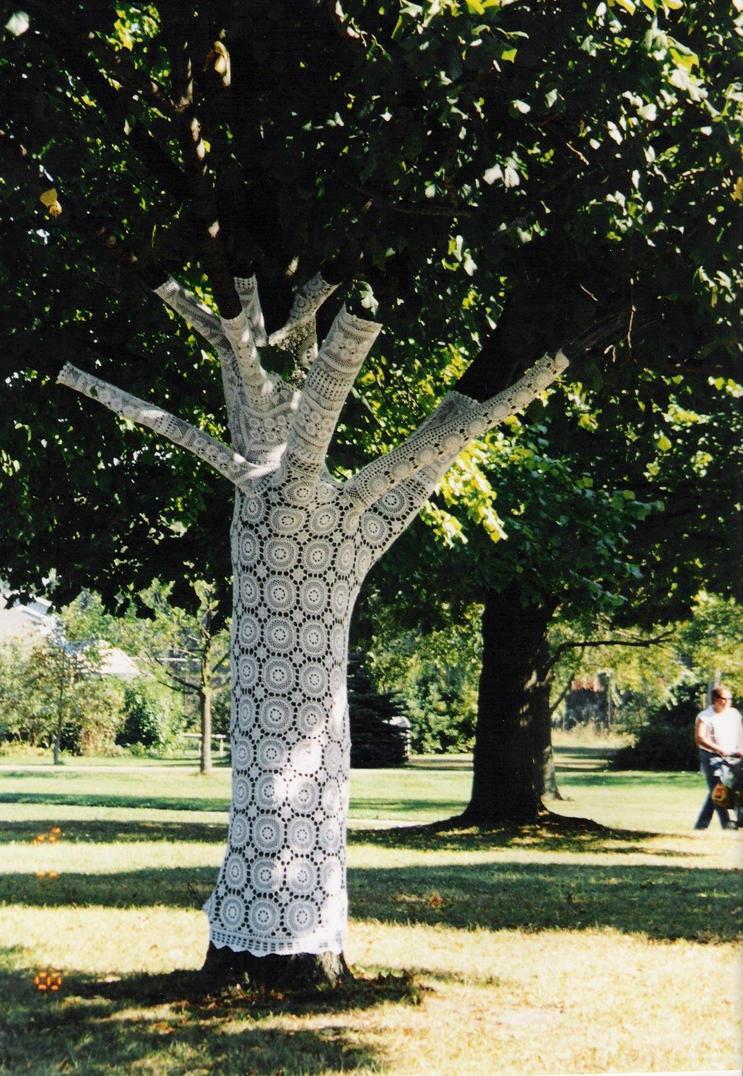 Knitting Trees Art : Knitted tree cover by jvzrac on deviantart
