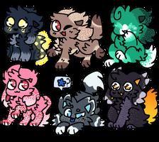 15 point kittydog adopts (OPEN) by SoulBirdAdopts