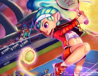 Tennis Star Zoe - League of Legends by DoskiiLee