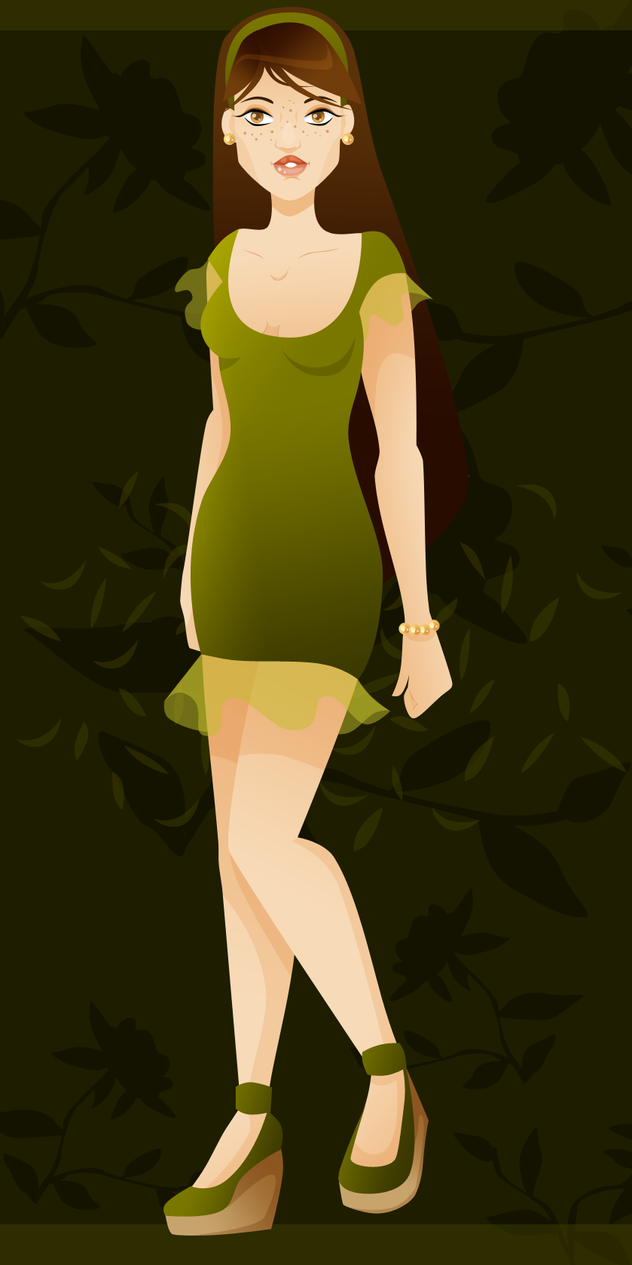 Girl in Green by AugustRealms