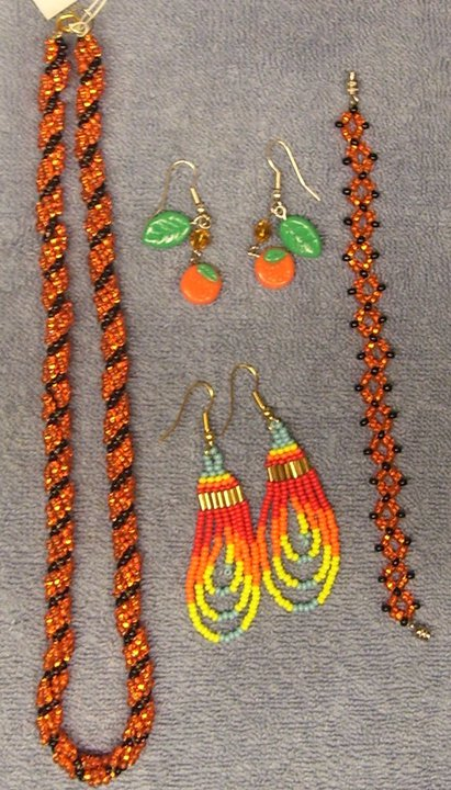 Orange beadwork by ladytech