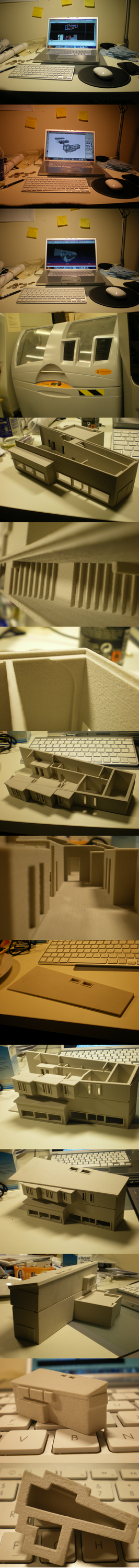 Making an architectural model. by bigredgecko