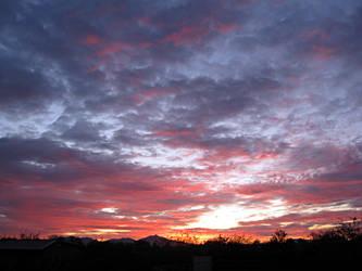 Sunset over the desert by Greylight-S