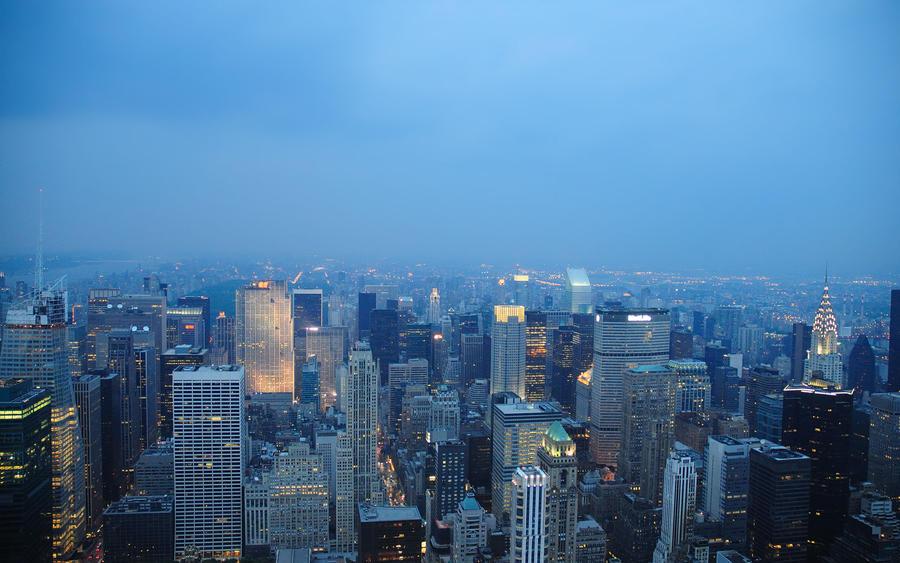 New York by Night Wallpaper by zuckerblau