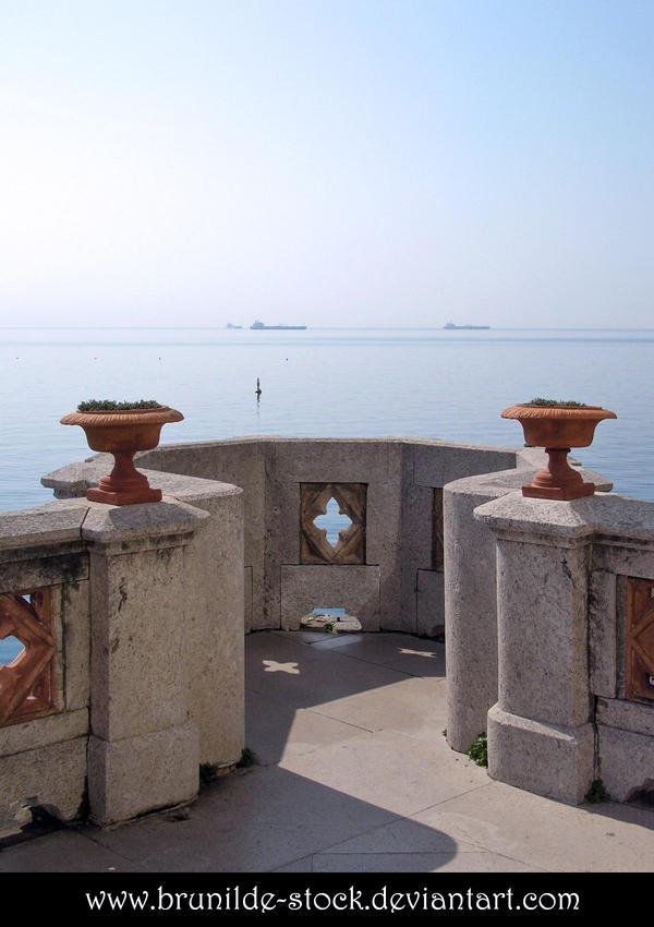 Miramare's Castle - Balcony 2 by brunilde-stock