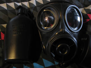 My S10 gas mask and matching drinking canteen