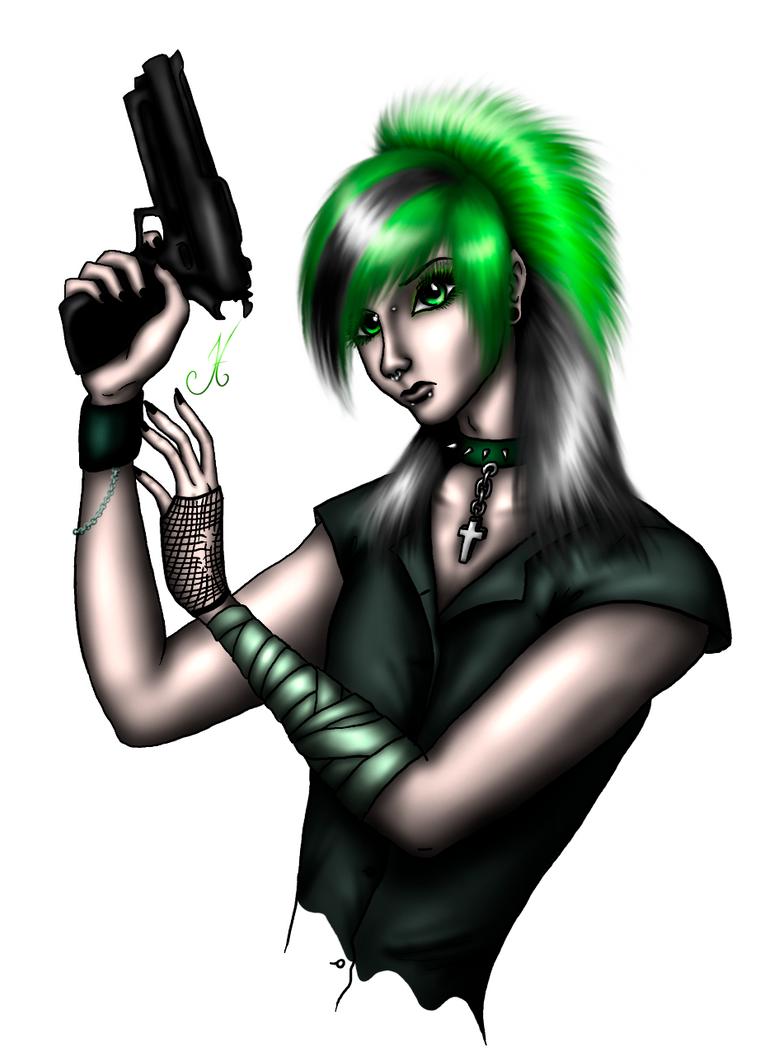 Gun II - green by Letty94