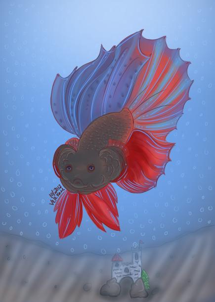 Water: Betta Fish by Velexane