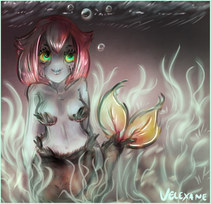 Illustration Friday - Swim by Velexane