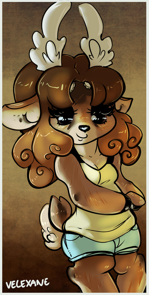 Lady deer by Velexane