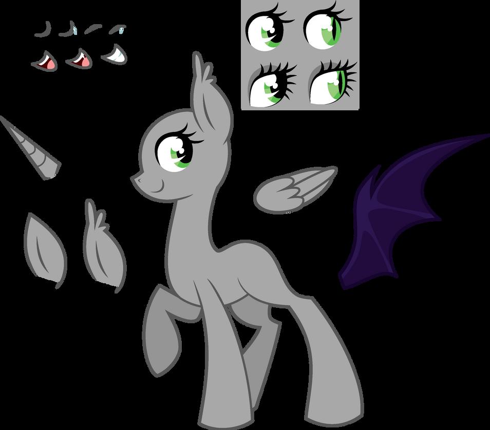 .-Pony Base-. Female Adoptable (MS Paint