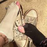 Holey stinky socks and trashed shoes