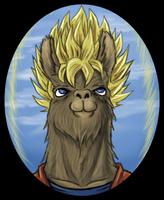 SSJ Llama by Fugaz-Star