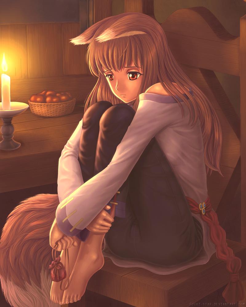 Holo the Sad Wolf by Fugaz-Star
