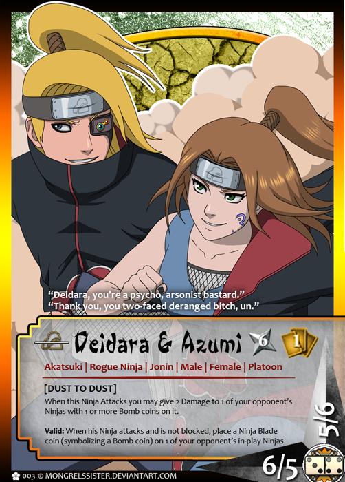 Naruto Tcg Deidara And Azumi By Mongrelmarie On Deviantart
