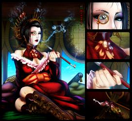 Steampunk Geisha by mongrelmarie