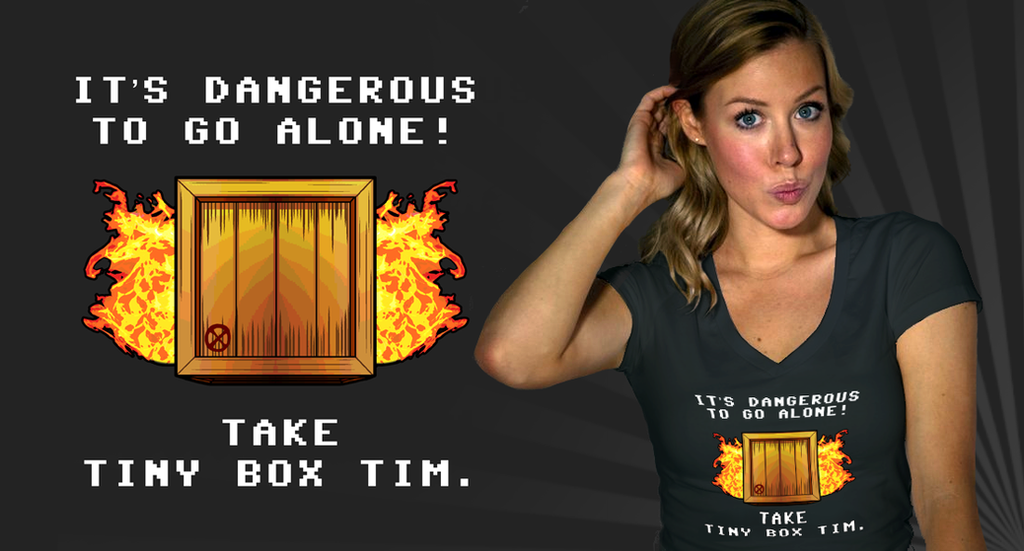 Tiny Box Tim T-Shirt by mongrelmarie