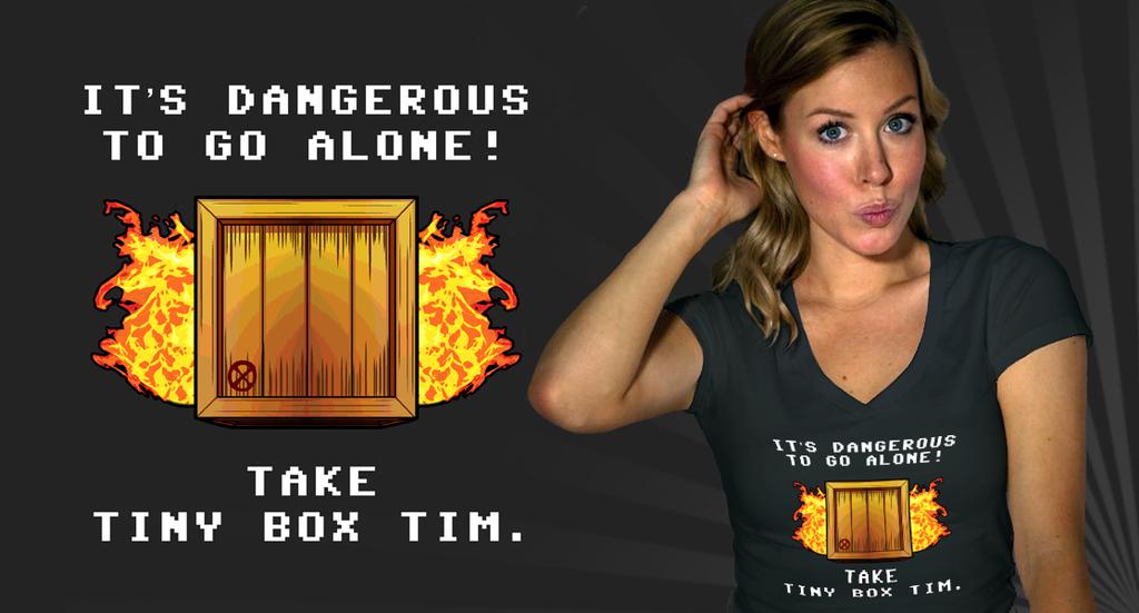 Tiny Box Tim T-Shirt by mongrelmarie