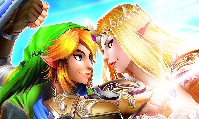 hyrule warriors zelda and link preview by mongrelmarie - Link Et Zelda