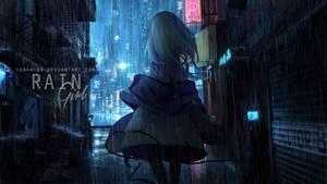 Wallpaper Rain Girl Rain Girl