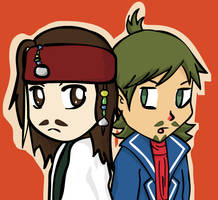 Jack Sparrow and Linebeck by Kackmauzer