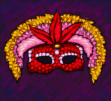 Colourful Mask by heatherleeharvey