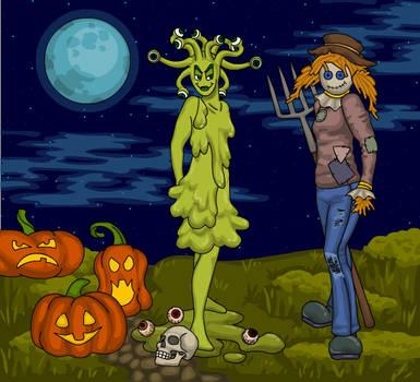 Slime and Scarecrow Dolls by heatherleeharvey