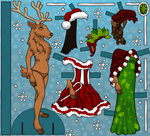 Reindeer Paper Doll by heatherleeharvey