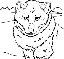 Canine Colouring Page 2 by heatherleeharvey