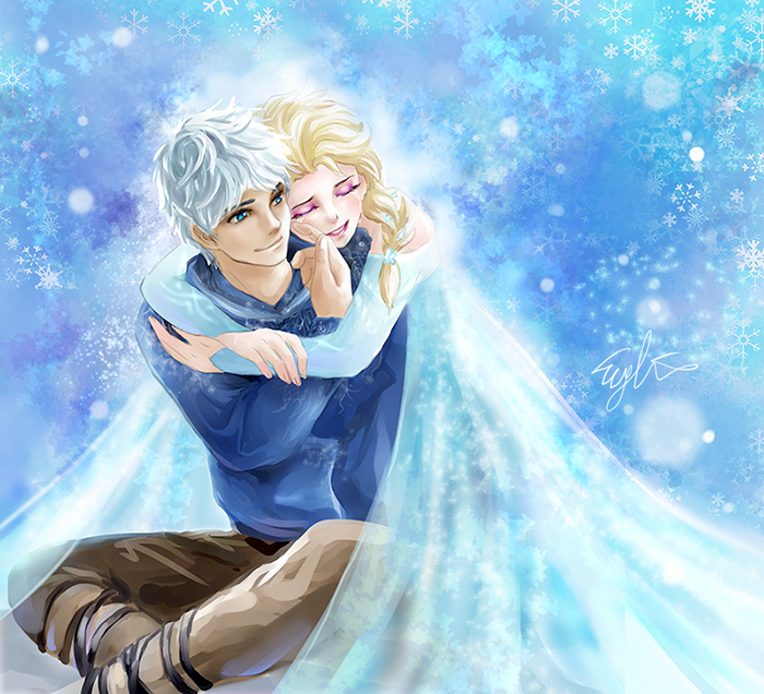 jack_frost_and_elsa_by_eykihan-d8dceeu.p