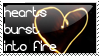 Hearts burst into fire by TaylorQueer