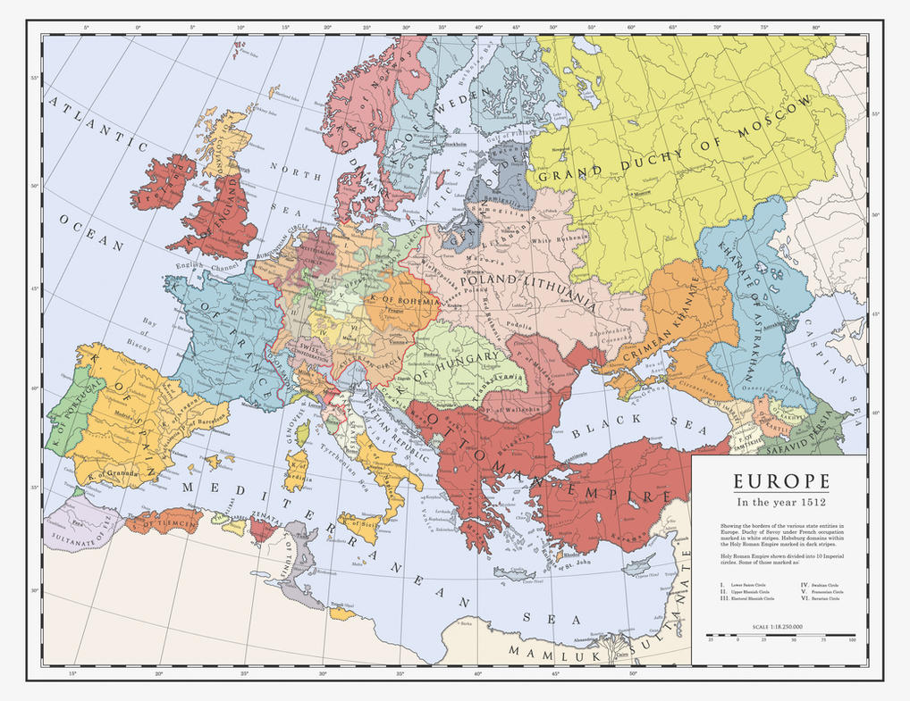 Europe in 1512 by Milites-Atterdag