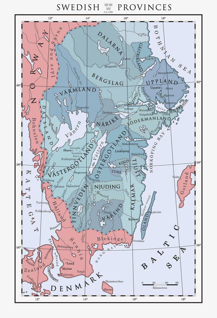 Sweden ca. 1500 by Milites-Atterdag