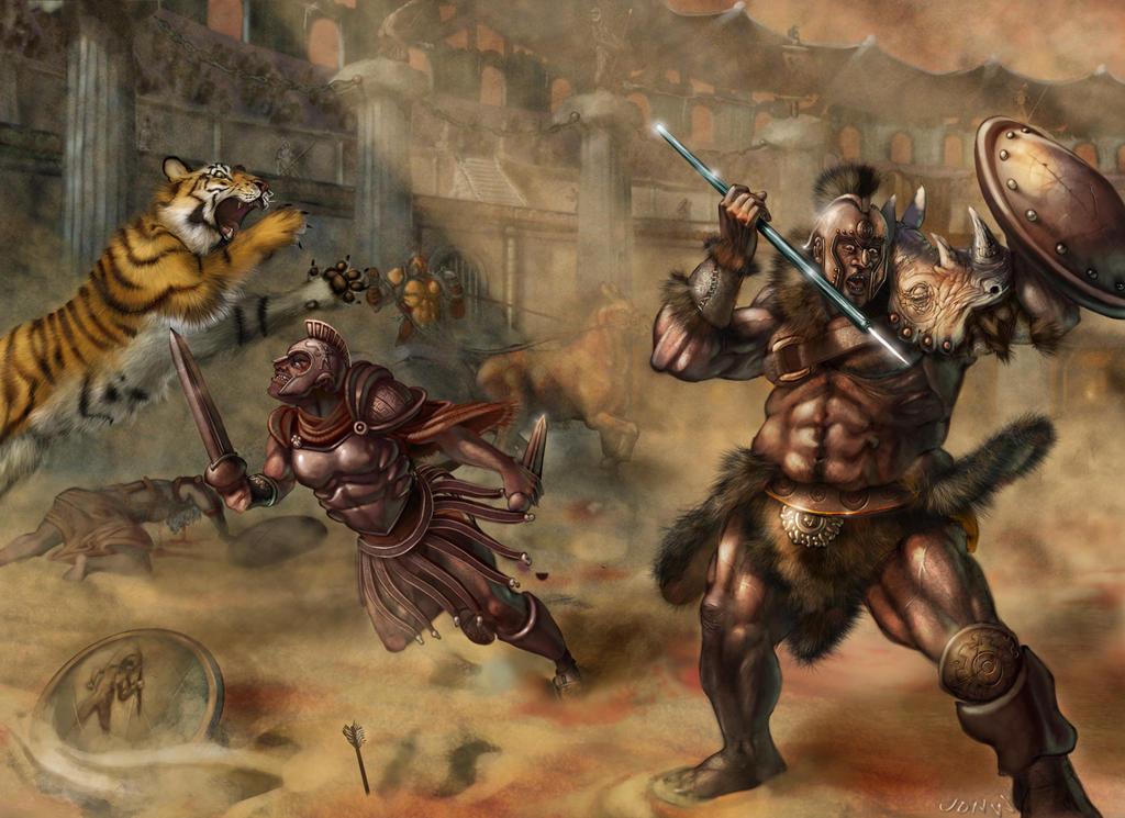 Descripción de El Coliseo Gladiator_Arena_by_jonWILEY