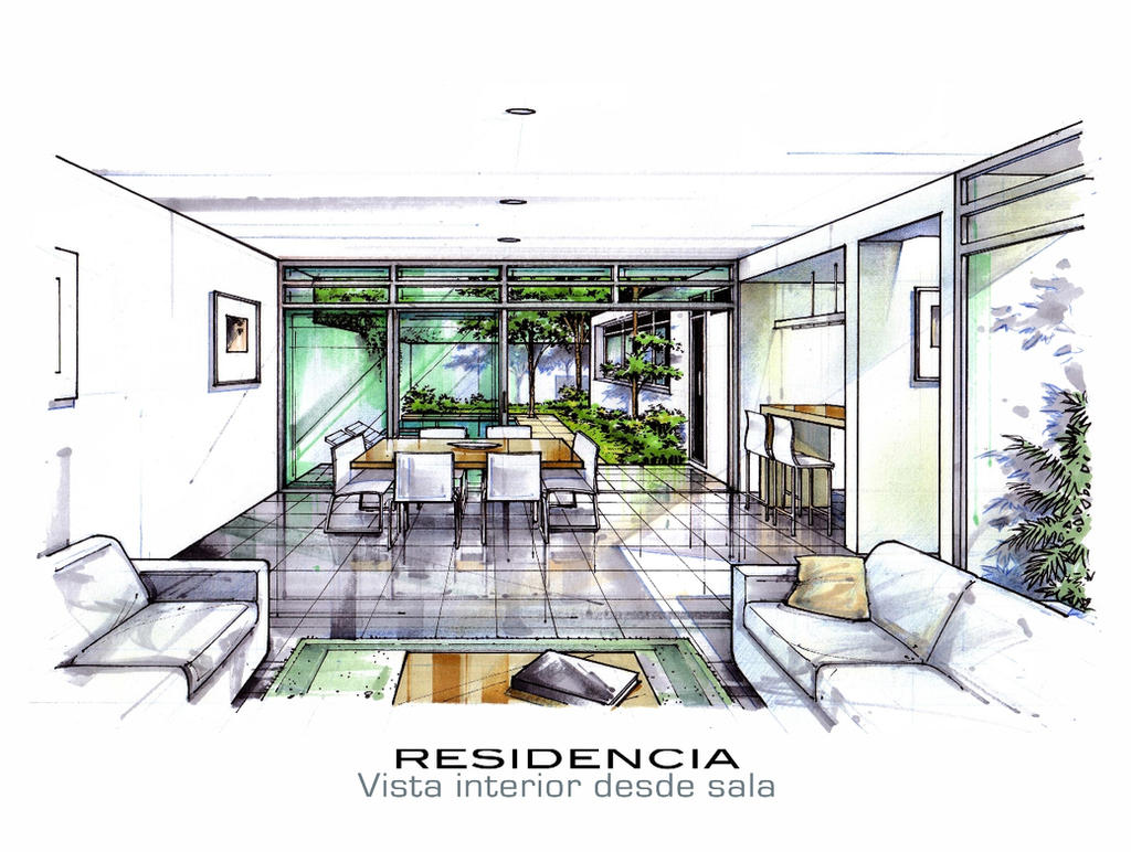 Interior view by icarosteel on deviantart for Arquitectura de interiores