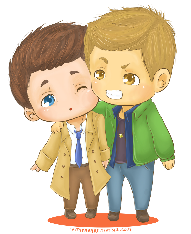Chibi Destiel by PityMau on DeviantArt