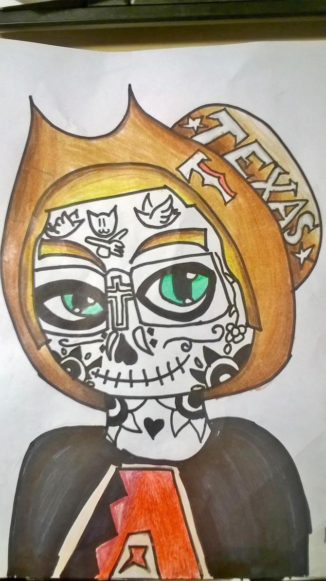 Sugar Skull #2 by DawnStar007