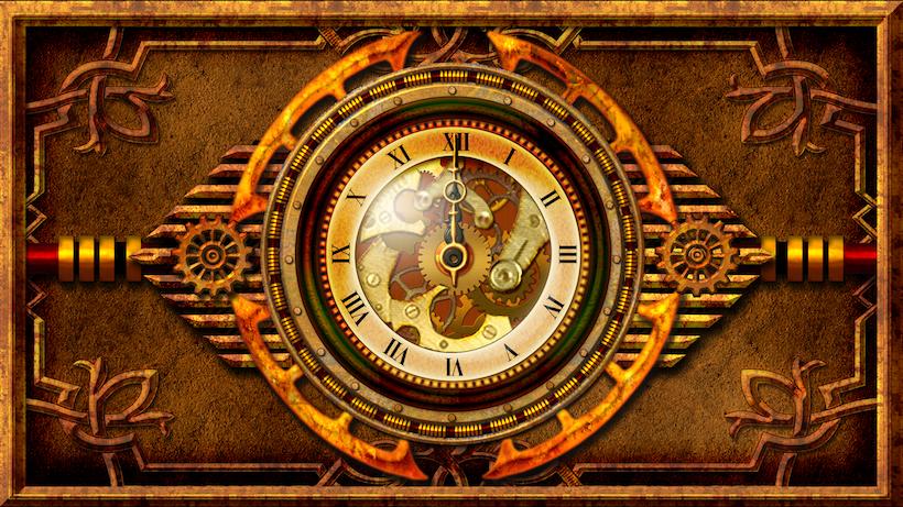 steampunk wallpaper clock - photo #12