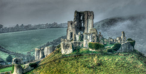 Corfe Castle by RehanZia