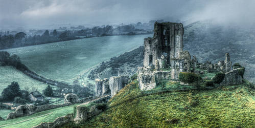 Corfe Castle II by RehanZia
