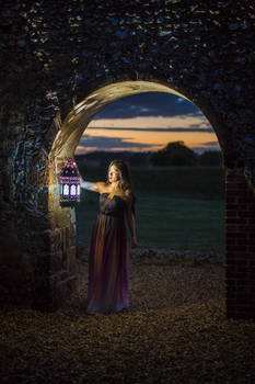 Girl with the lantern