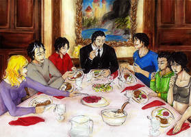 .:Batfamily Dinner:. by Linipik